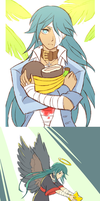 Hatoful - Anghel Doodles by rasenth