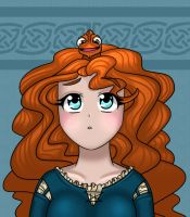 Merida and Pascal by Nine-Tailed-Fox
