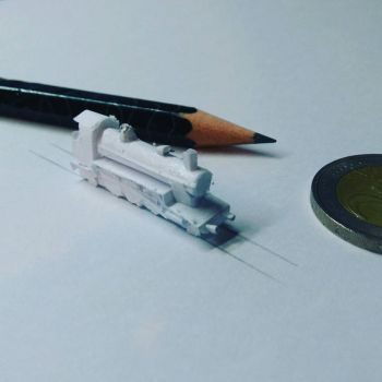 The smallest paper train I have ever made!  by JoaoDaFonseca