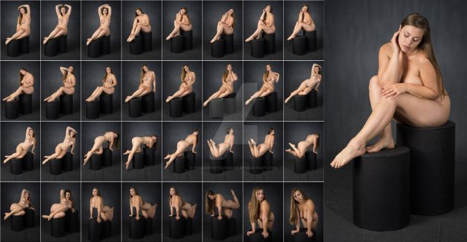 Stock: Lillias Art Nude Stool Poses - 32 Images by stockphotosource