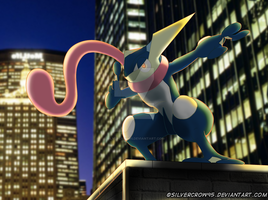 Greninja - Shadow of the city. [Remake] by SilverCrow95