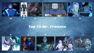 UPDATED: Top 10 Mr. Freezes by JJHatter