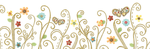 [RES] Flowers Swirl Butterflies PNG by HanaBell1