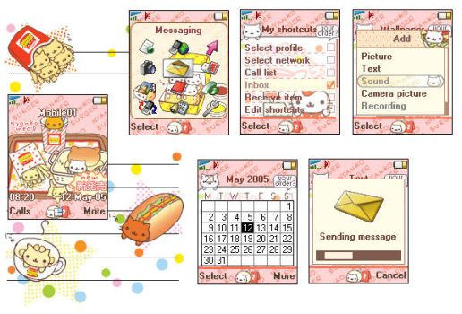 Nyanko burger theme for T610 by cafe-cartel