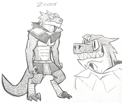 Sketchbook Draws #4: Zevnor The Lizard Man by InterstellarLizard