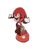 Sonic Heroes Collab [Team Riders] - Knuckles by Decision-To-Protect