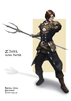 C: Z'darr, Human Fighter by bchart