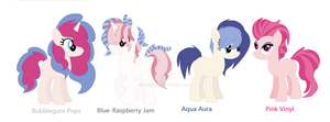 VinylPie - family of 4 by Kaiimira