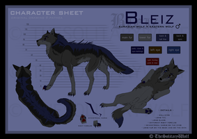 Bleiz - Character sheet by Thesolitarywolf