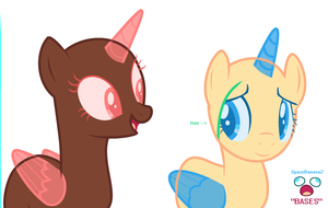 -=- You are really cute... -=- MLP Base #9 -=- by SpaceBananaZ