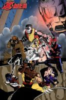 X-Men Poster 2 colored by Ari-Spike-Nadelman