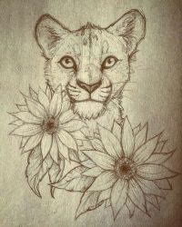 Sunflower cub WIP by GaiasGreenWorld