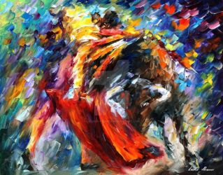 Exciting Corrida by Leonid Afremov by Leonidafremov