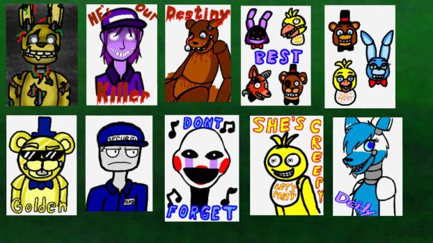 Fnaf Posters by Deidy-chan