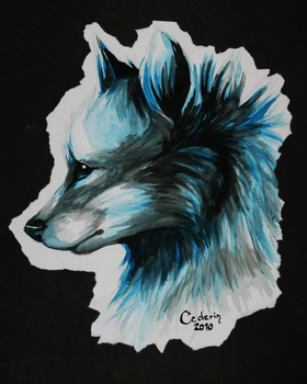 Ice wolf by Cederin