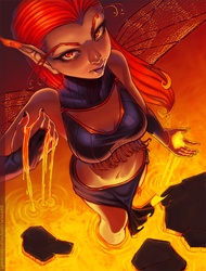 April 2016 Monthly: 'Fae of the Molten Core' by SkyeSparrow