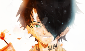 The Promised Neverland Ray Fire's Manga Colors HD by Amanomoon