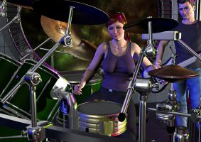 Drummer for the Band by Diranda