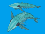Lamnicaris - pelagic predatory anomalocaridid by The-Episiarch