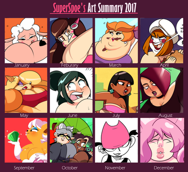 2017 art overview by SuperSpoe