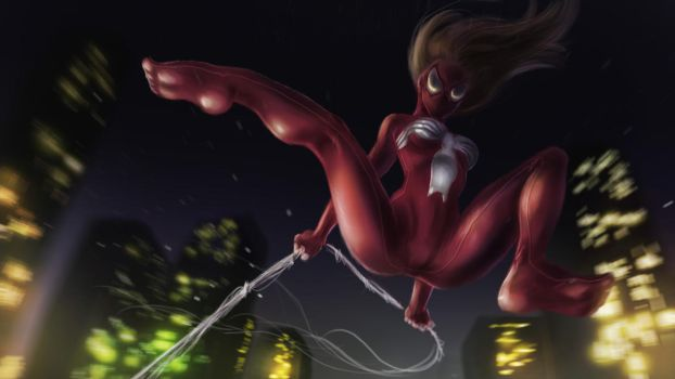 ultimate spider-woman by alecyl