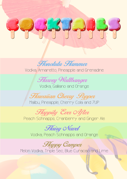 Cocktail List by bowlandspoon