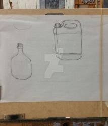 College Drawing Class - Jugs by LadyNightosphere