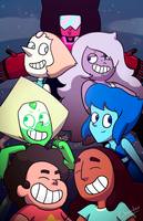 The New Crystal Gems - SU Fan Art by Chander-Fox