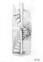 Spiral staircase by wiatrP1