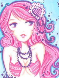 ACEO- Miss Valentine by Blush-Art