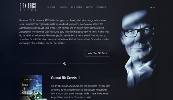 Dirk Trost Website by SebastianKlammer