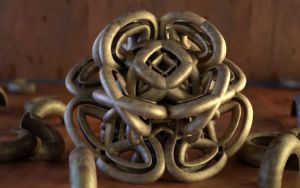 Bronze Pipe Sculpture by LuxXeon
