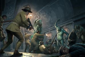 Cthulhu Wars - The Raid on Innsmouth by wraithdt