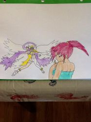 Angewomon and Daisy by MIRACLESVEEMON