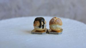 Miniature profiteroles by AGTCT