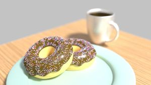 Doughnuts and Coffee by Louisetheanimator