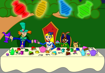 The Mad Hatter's tea party by Christopia1984