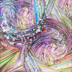 RAINBOW IN A BLENDER ABSTRACT ART by popartdiva