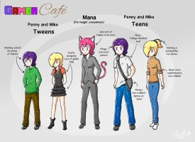 Gamer Cafe - Penny and Mike Update by Daz-Keaty