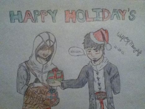 Assassins Creed Happy Holiday's by WolfOfMasyaf