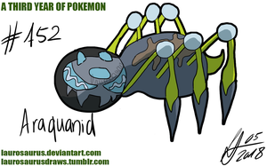 A third year of pokemon: #752 Araquanid