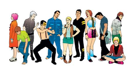 Secondhand Youth characters by t-drom
