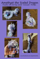 Amethyst The Scaled Asian Dragon Posable Art Doll by Eviecats