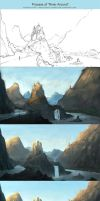 Process of River Around by Roseum