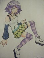 Mizore Shirayuki _colored_ by Arashi-no-Hayato