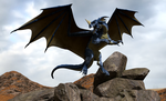 Blue Dragon :: Dungeons and Dragons by DrowElfMorwen