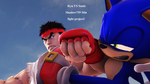 Ryu Vs Sonic Fight Cover by shadow759