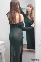 Emelie in green dress 6 by PhotographyThomasKru