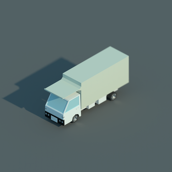 Low Poly Isometric Truck by blenderednelb