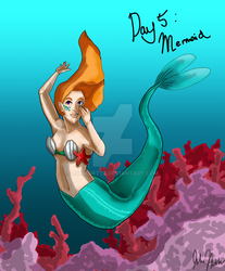 Monster Girls Day 5: Mermaid by Lucianette